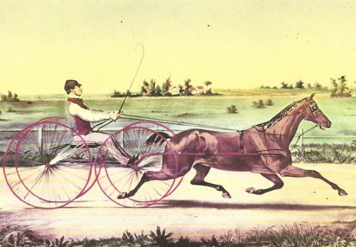 Who holds the all-time mile speed record in your article about harness racing and its stars?
