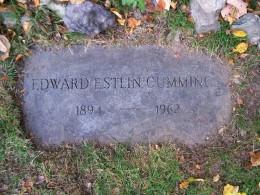 E.E. Cummings' grave in Jamaica Plain, Massachusetts
