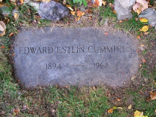 E.E. Cummings' grave in Jamaica Plain, Massachusetts
