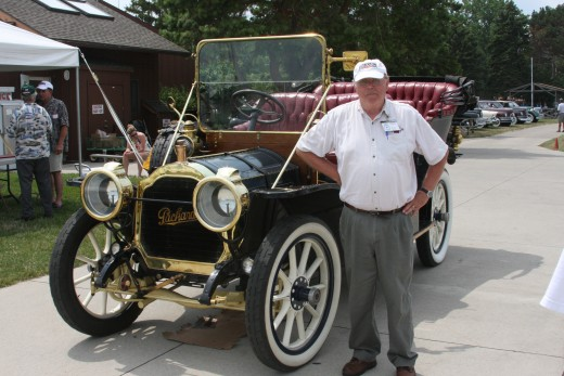 Bruce Webster, President, Motor City Packard and 1908 Packard Touring Car