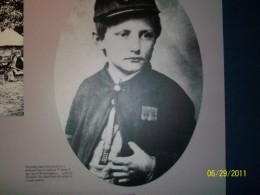 A portrait in the Shiloh Museum displays John Clem, a 10-year-old Union drummer boy, who was reportedly one of the youngest participants in the Battle at Shiloh He later retired as an Army Major General.