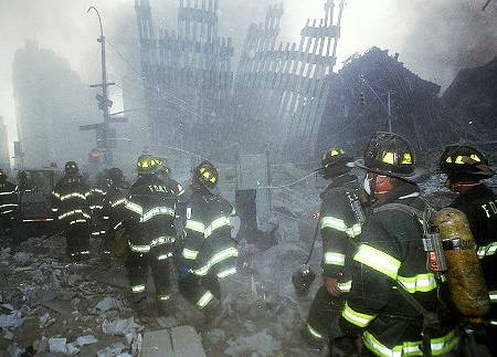 Some of the first responders helping during America's 9/11 attack