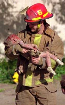 An innocent young victim of the Oklahoma City bombing