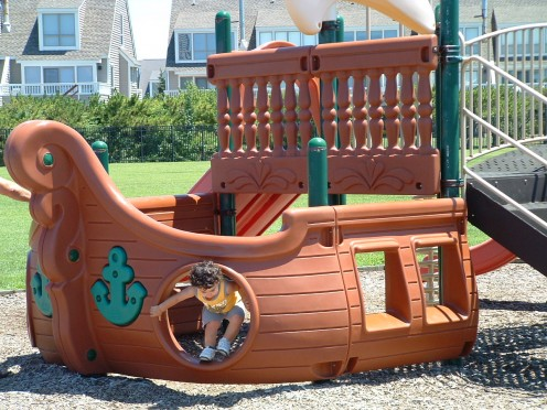 Nautical Themed Playground at Lewes Terminal Makes Waiting for the Ferry Fun.