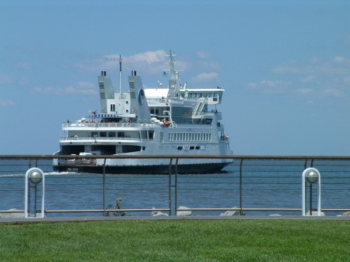Ferry leaving the Lewes, DE terminal.