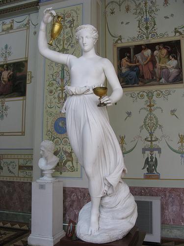 Hebe (Greek) or Juventas (Roman) at the Hermitage in St. Petersburg, Russia.