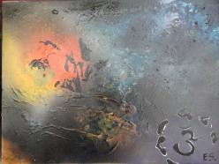 Image of  paint pouring technique