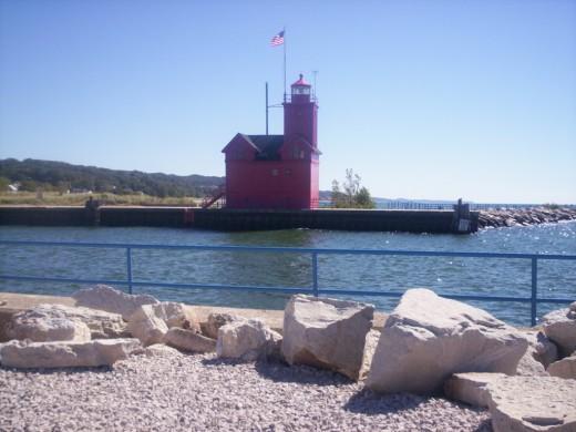Holland's Lake Michigan Lighthouse