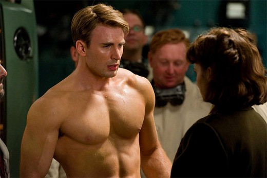 Steve Rogers, Post-Serum.  Seriousely, put a shirt on.