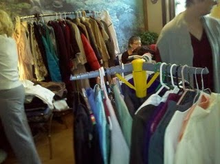 At the Women's Clothing Exchange last September