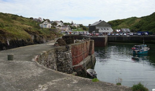 Peaeful: The harbour at Porthgain is still in use today
