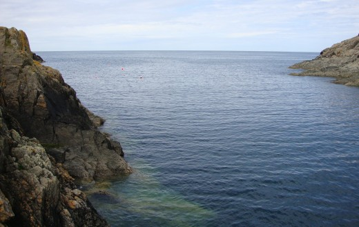 Clear water: The stunning view out to sea from the harbour... why not take out a kayak?