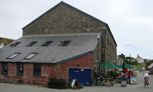 Converted: One of the former industrial buildings is now a place to eat