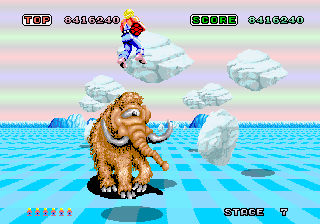 One Eyed Wooly Mammoths Were Commonplace In The Fantasy Zone. Space Harrier