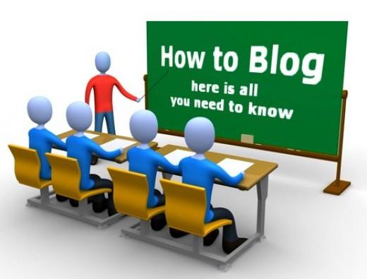 Steps to make a blog
