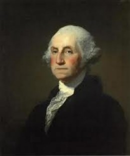 American Presidents George Washington Color Example