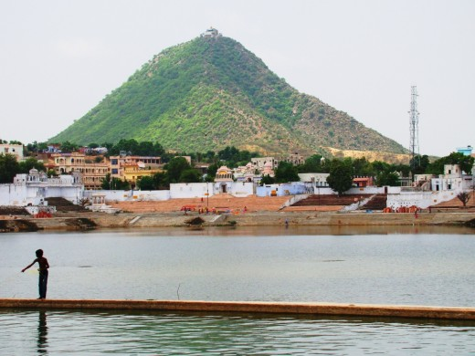 The Sabitri Hill with the temple dedicated to Sabitri, the consort of Lord Bramha