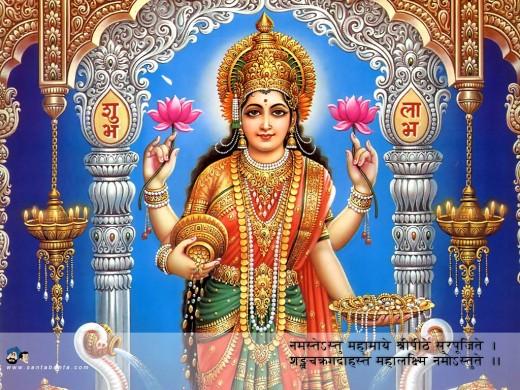 Lakshmi - Indian goddess of prosperity