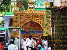 The inner gate of the Dargah
