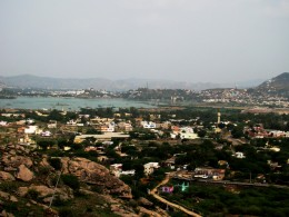 A Bird's- eye view of Ajmer from Nag Parvat (Snake Hills)
