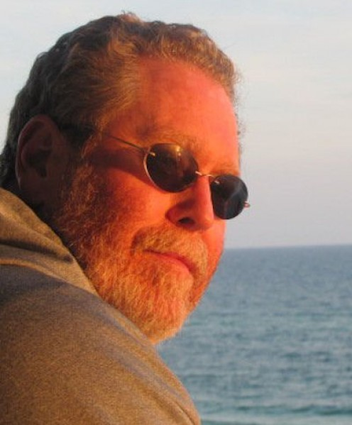 The author while enjoying a visit to the Gulf of Mexico.