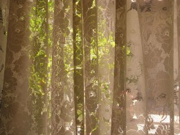 Lace curtains come in many colors, including ecru.