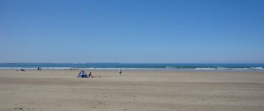 Day out: The unspoiled sands of Newgale beach in Pembrokeshire