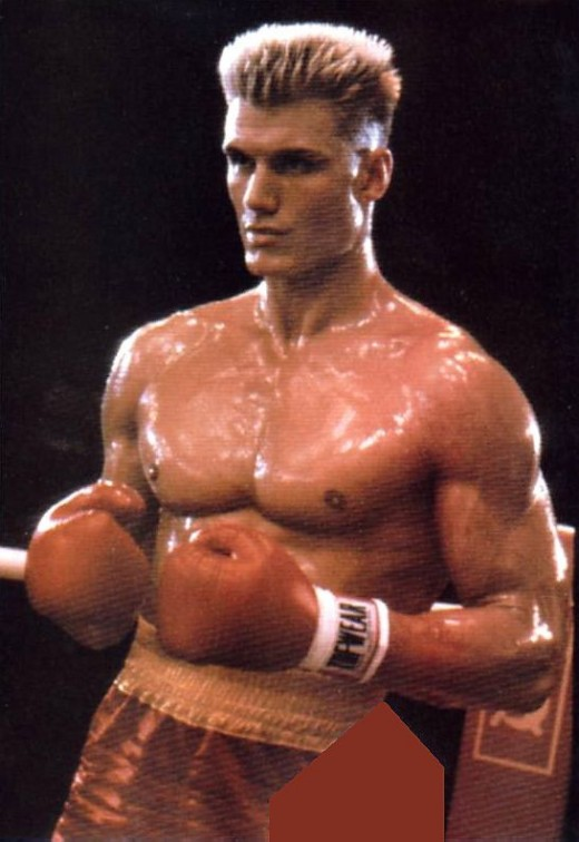 Ivan Drago flattop hair.