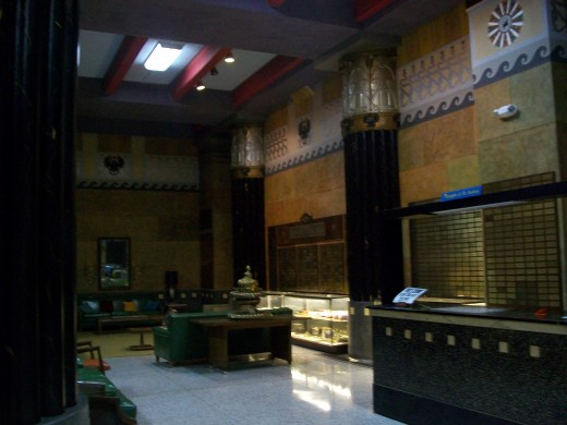Photos from the main public room at the McAlester Scottish Rite Temple