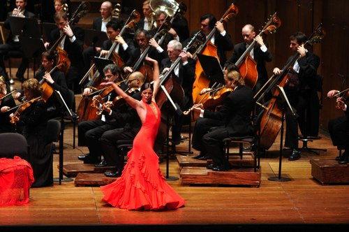 Nuria Pomares performs with the New York Philharmonic