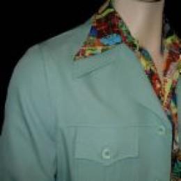 Polyester shirt and jacket (circa 1970)