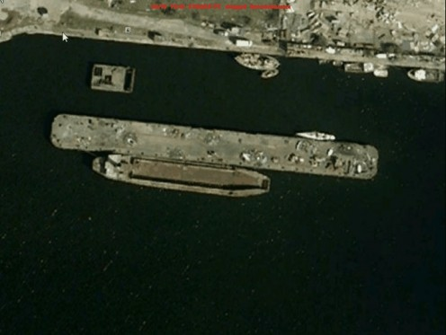 A  Google earth view of lct 7074