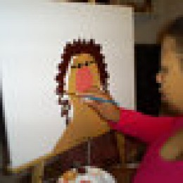 A photo of me painting