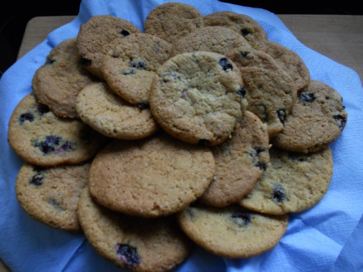Delicious home-made blueberry cookies