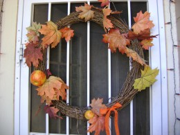 Simple door wreath