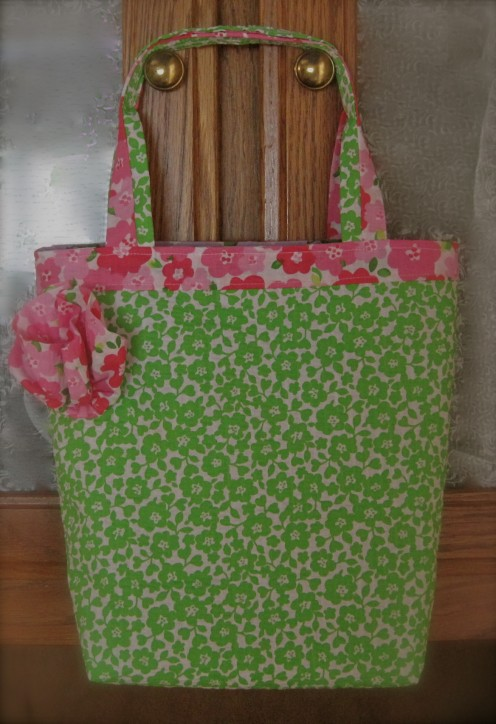 Gift Tote Bag Is Crisp, Finished, And Ready For My Second Granddaughter!