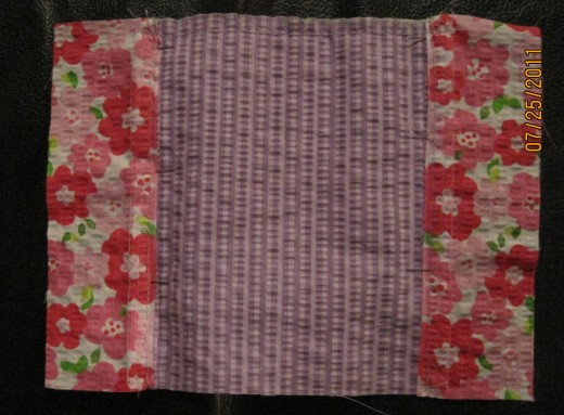 Photo A Shows Fabrics Pieced Together For The Large Pocket