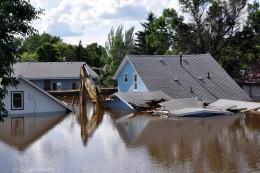 Flood Devastation in Minot, ND, July 26, 2011.