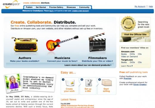 CreateSpace Homepage