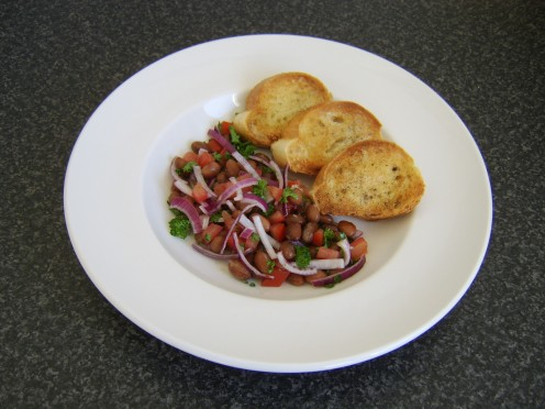 This Italian style borlotti bean salad is just one of the bean salad recipes featured on this page