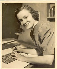 Elaine Rawlinson In Her Studio In 1938. Click to read her great story.
