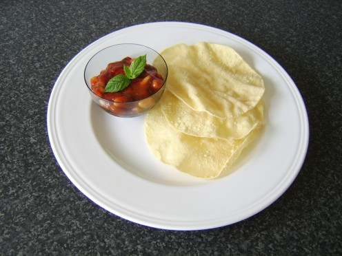 This Indian spiced bean salad makes an excellent starter, served with poppadoms