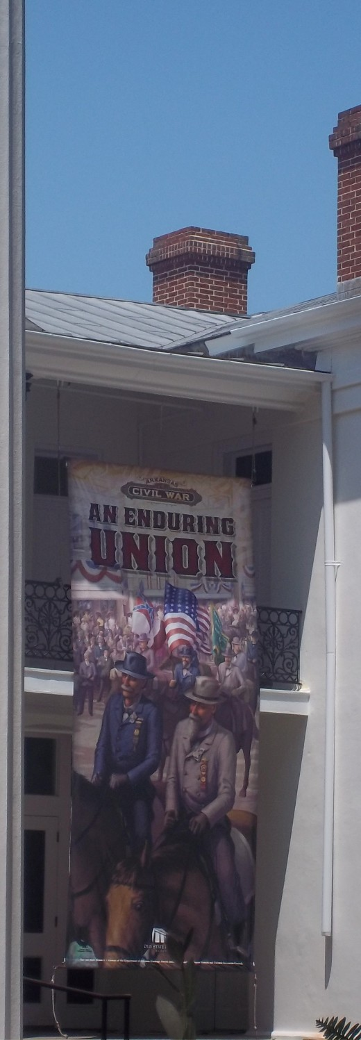 Ironic these banners were hanging at the Old Statehouse Museum
