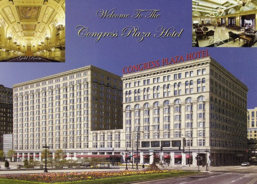 Postcard of Congress Plaza Hotel