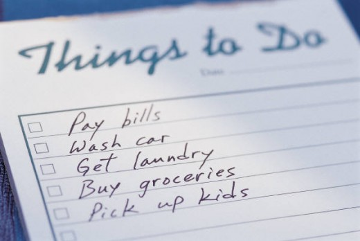 Make a list and check it twice. It might help reduce your stress level.
