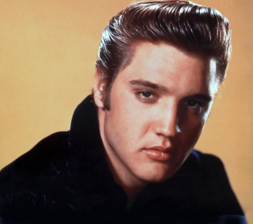 Elvis Presley hairstyle.