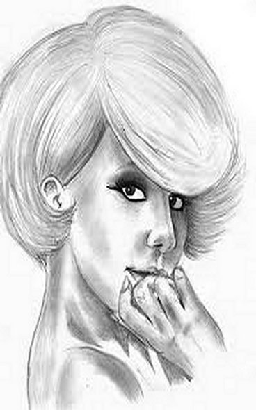 Lady Gaga Coloring Pages Free Colouring Pictures to Print - Pencil Drawing 1