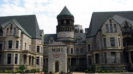 Front Entrance to the Mansfield/Ohio State Reformatory.