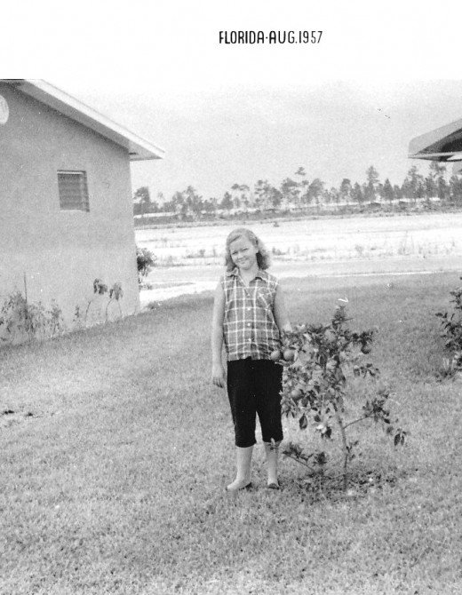 This is the author in 1957 in Florida.
