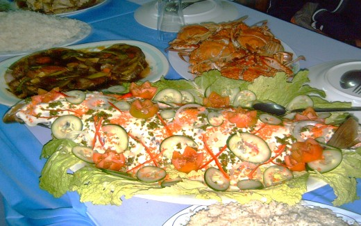 Fish Escabeche II or Sweet-n-Sour Steamed Fish (Photo by Travel Man)